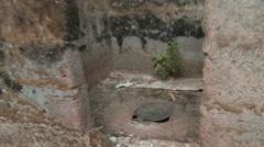 Primitive toilet in Africa - stock footage