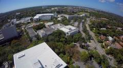 University of Miami 6 aerial 4k video Stock Footage