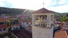 Aerial footage of village in Croatia - stock footage