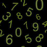 Endless pattern numbers with stripes Stock Illustration