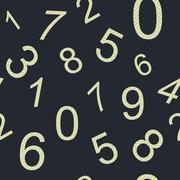 Endless pattern numbers Stock Illustration