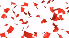 Red envelopes falling - seamless loop, alpha Stock Footage