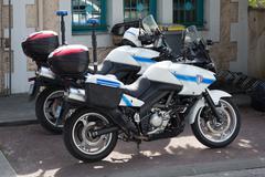 Bike of the municipal Police Stock Photos
