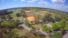 Aerial video Tropical Park 6 Miami 4k Stock Footage