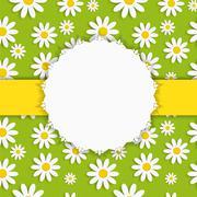 Stock Illustration of Flora Daisy Framel Design Vector Illustartion