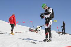 Etna Ski Alp - World Championship 2012 International Trophy Etna - 24/25 Febr - stock photo
