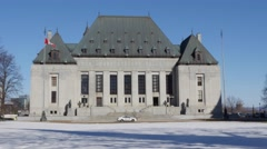Canadian Supreme Court Building Ottawa Stock Footage