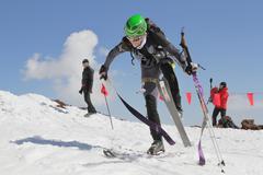 Etna Ski Alp - World Championship 2012 International Trophy Etna - 24/25 Febr Stock Photos