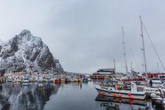 World Championship in arctic cod fishing Stock Photos