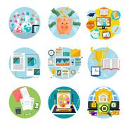 Stock Illustration of Financial alchemy, education, graphic design
