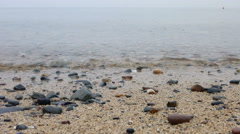 Low angle view from the beach while raining Stock Footage
