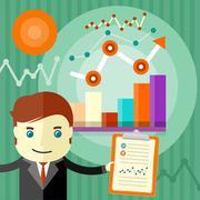 Income dynamics concept Stock Illustration