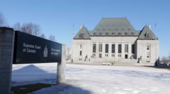 Canadian Supreme Court Building - stock footage
