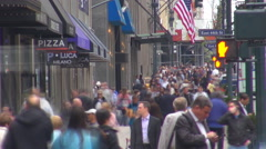 Timelapse New York City bustling pedestrian street people commute Manhattan day  Stock Footage