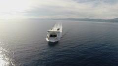 Aerial shot of Croatian ferry boat - jadrolinia Arkistovideo