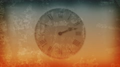 Grungy clock Stock Footage
