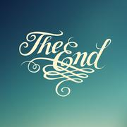 """Beautiful movie ending typography """"The End"""" Stock Illustration"""