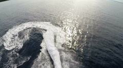 Aerial shot of jet ski rider - Adriatic sea, TWO CLIPS IN ONE! Stock Footage