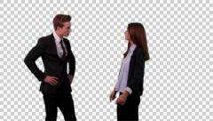 K14A8723 - Big argument, Guy and Girl, business attire Stock Footage