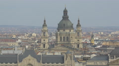 St Stephen's Basilica in Budapest Stock Footage
