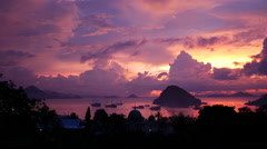 Sunset time lapse Labuan Bajo Flores Indonesia Stock Footage