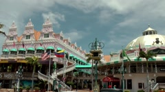Aruba Oranjestad 043 two buildings of Royal Plaza Mall shopping center Stock Footage