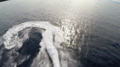 aerial shot of jet ski rider - Adriatic sea, TWO CLIPS IN ONE! - stock footage