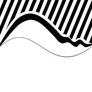 Decorative wavy background with narrow oblique stripes (eps) Stock Illustration