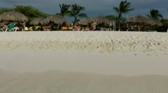 Stock Video Footage of Aruba Eagle Beach 003 camera sees white sand out of the water