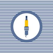 Spark-plug color flat icon - stock illustration