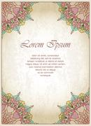 Old-style colored background with gentle and pleasant colors - stock illustration