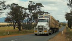 Road Train in Country Western Australia Stock Footage
