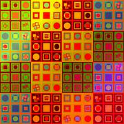 Abstract colorful variable pattern in op art style Stock Illustration