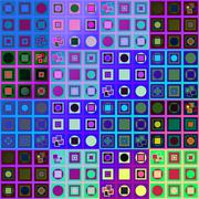 Abstract colorful variable pattern in op art style - stock illustration