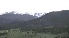 Panoramic view of Rocky Mountain National Park, Colorado Stock Footage