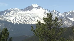 On the top of Rocky Mountain National Park, Colorado - stock footage