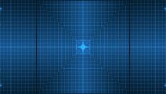 Blue flickering display Stock Footage