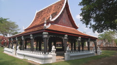 Temple at Ancient Siam Park in Samut Prakan Province, Thailand Stock Footage
