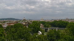 Rome - Skyline of Churches Stock Footage