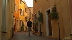 City Streets on the Riviera in FREJUS, FRANCE Stock Footage