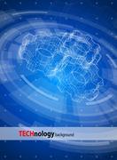 technology background - stock illustration