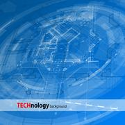 Architecture design - blueprint - stock illustration