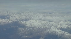 Passenger view from Airbus A319/320 flying overthe Pyrennes, Spain. Stock Footage