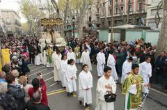 Good Friday Procession in Barcelona, Spain Kuvituskuvat