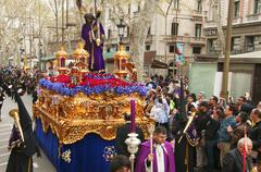 Good Friday Procession in Barcelona, Spain Stock Photos
