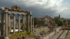 Rome - The Roman Forum Stock Footage