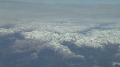 Stock Video Footage of Passenger view from Airbus A319/320 flying over the Pyrennes near Bielsa, Spain.
