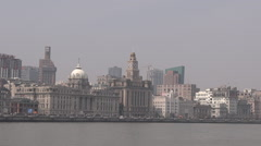 Shanghai - The Bund or Waitan Stock Footage