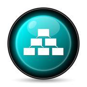 Stock Illustration of Organizational chart icon. Internet button on white background..