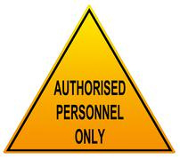 Authorised Personnel Only With English Spelling Stock Illustration